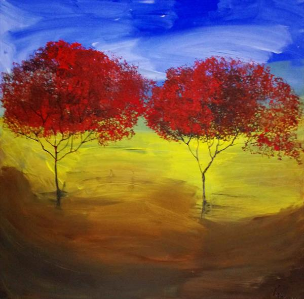 red trees by Beata Harasim