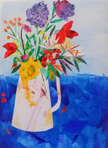 JUG OF SPRING FLOWERS by LIZ TAYLOR