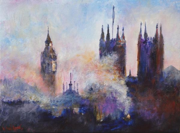 Westminster - view from the New Scotland Yard 12th Floor ( London series ) on display at Art Gallery by Kasia Kaldowski
