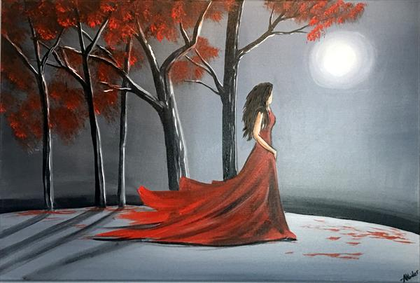 Lady In Red by Aisha Haider