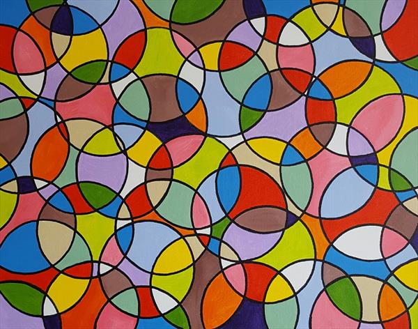 Abstract circles 4 by Lee Proctor