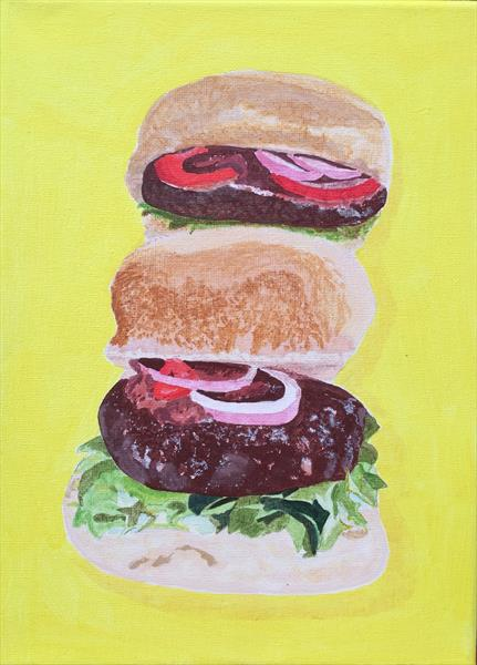 Double Burger by Janet Welsby