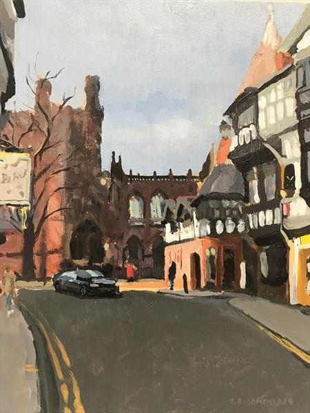 Chester Cathedral - Evening Sun by James  Bloomfield