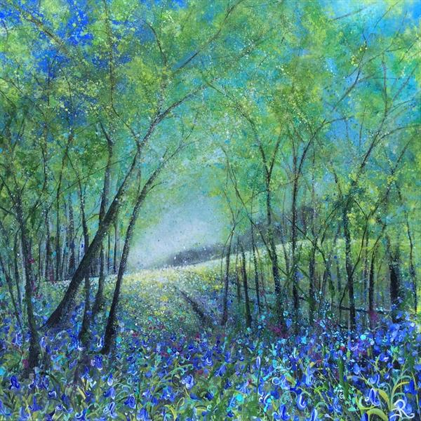 Bluebell Pathway by Janice  Rogers