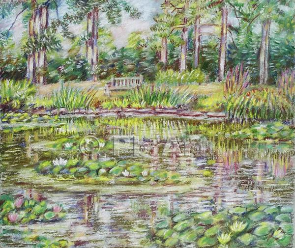 Lily Pond  Kew Gardens by Patricia Buckley