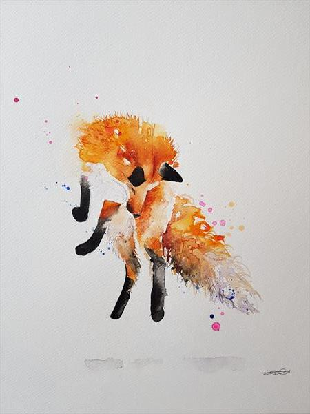 Leaping Fox  by Eleanor SMITH
