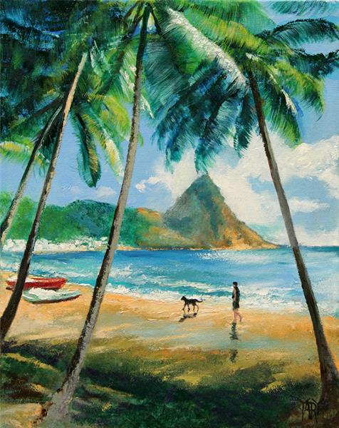 St Lucia Caribbean by Yary Dluhos