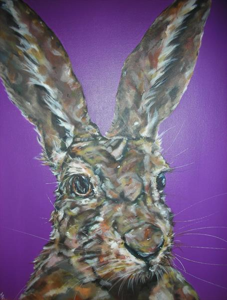 Fresh Hare  (On display at the Art Gallery, Tetbury) Reserved for  K.H by Sam Fenner