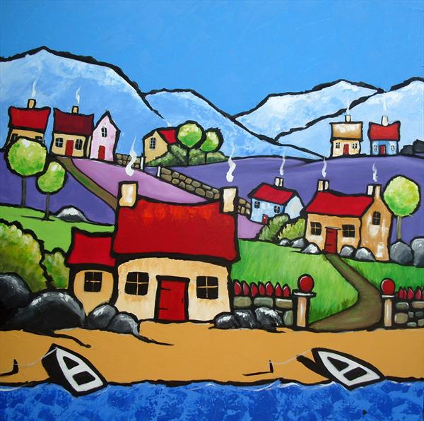 cornish town by Yvette Metcalf