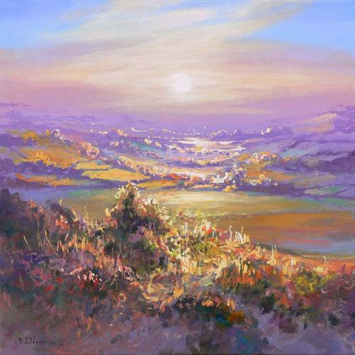 Sunshine Over the West Country (On Display At the Art Gallery, Tetbury) by Mariusz Kaldowski