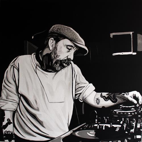 Andrew Weatherall  by Justin Robertson