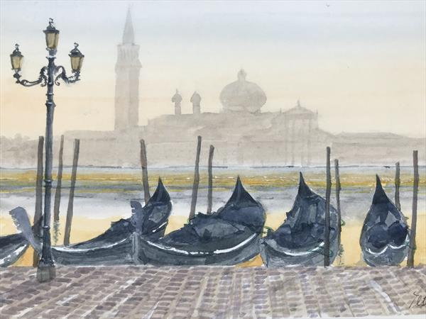 Venice at dawn by Peter Blake