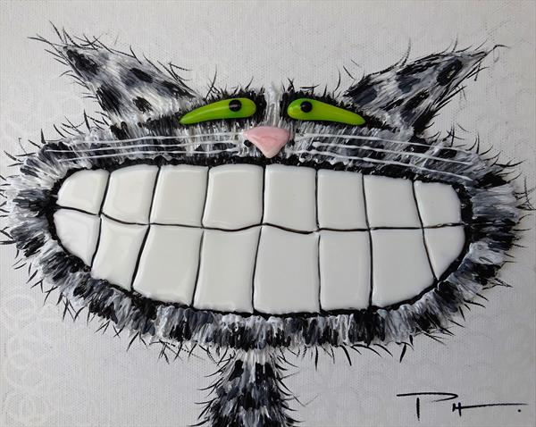 Black & White Cat 5 by Paula Horsley