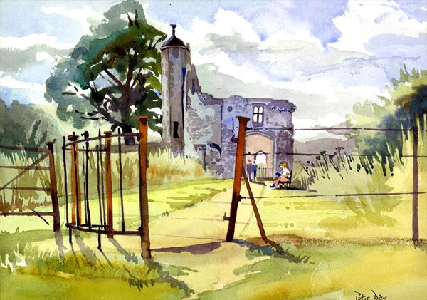 Baconsthorpe Castle, Norfolk. Ruined manor house, English Heritage by Peter Day