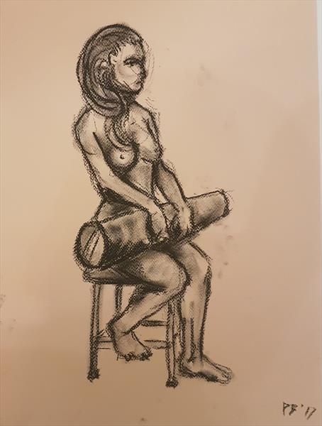Seated study by David Brown