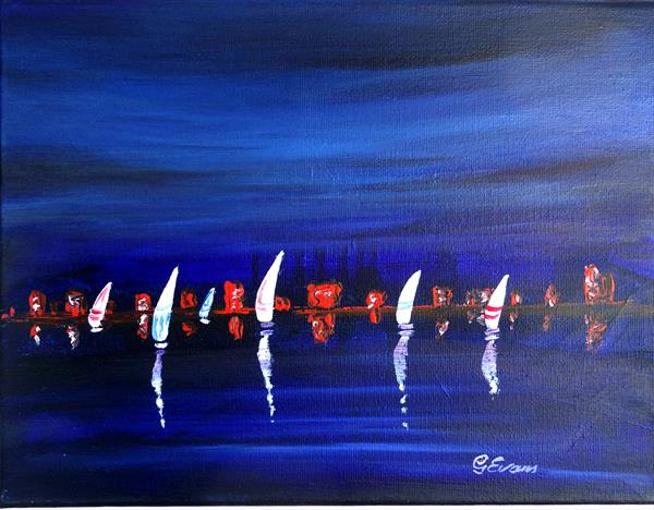 Evening sail by Graham Evans
