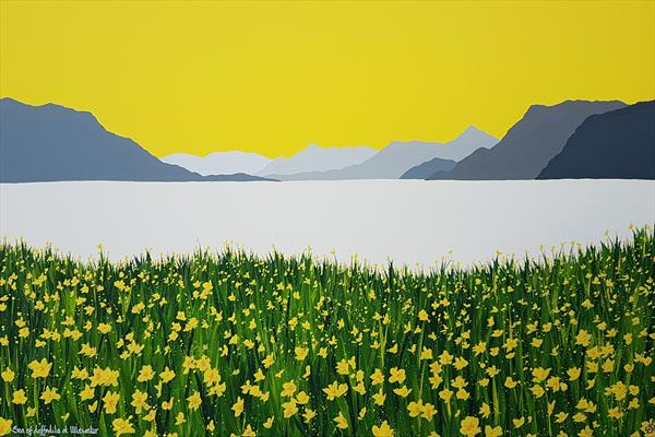 Sea of daffodils at Ullswater, The Lake District by Sam Martin