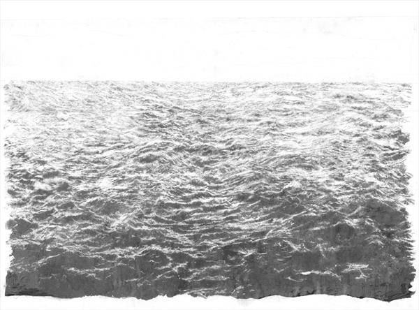Sea (Limited Edition Silk Screen Print, Unframed) by Daniel Jacobs