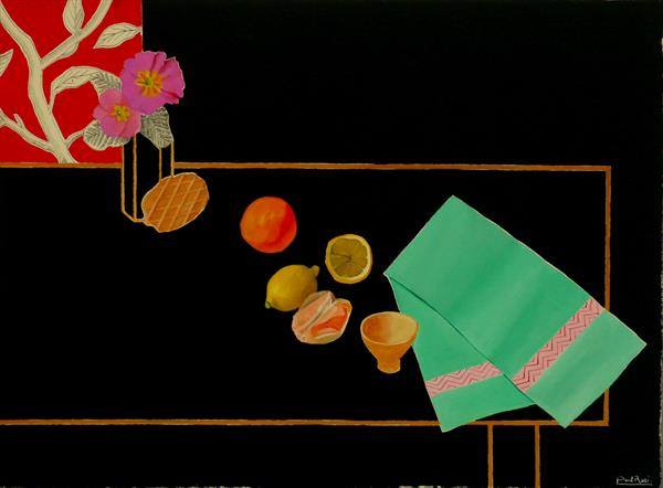 Still-Life With Green Cloth by Paul Rossi