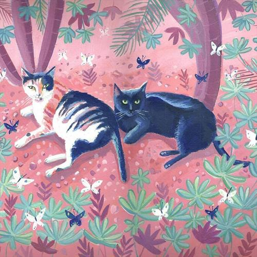 Garden Cats by Mary Stubberfield