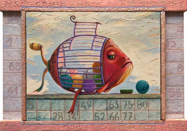 THE BINGO FISH -( Integrated, decorated Frame ) by Carlo Salomoni