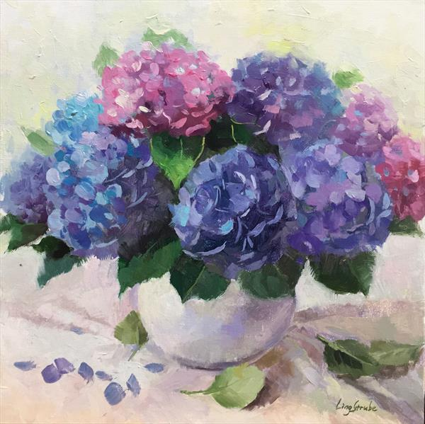 Forever Hydrangea (frame) by Ling Strube