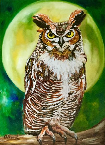 Owl. When the owl sings, the night is silent