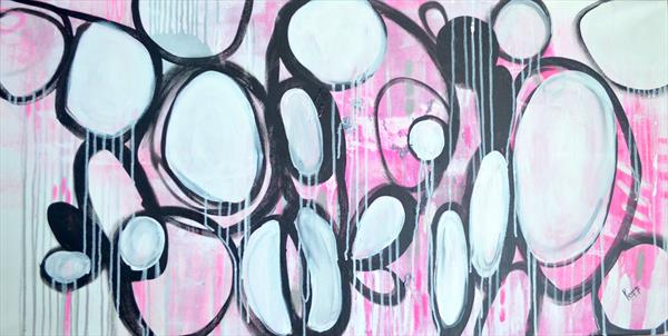 Pink Abstract  by Poonam choudhary