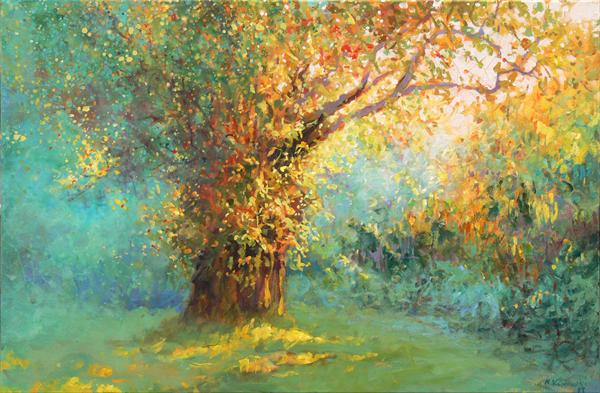 Oak (On Display At Art Gallery, Tetbury) by Mariusz Kaldowski