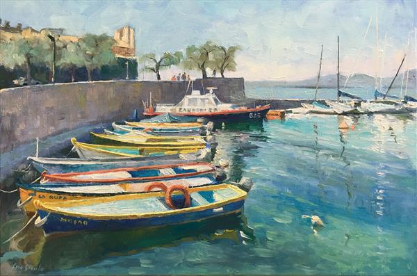 Italian Harbour by Ling Strube
