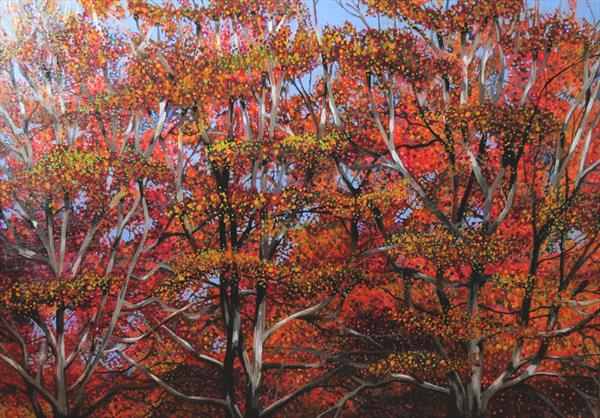 Autumn Trees by Roz Edwards