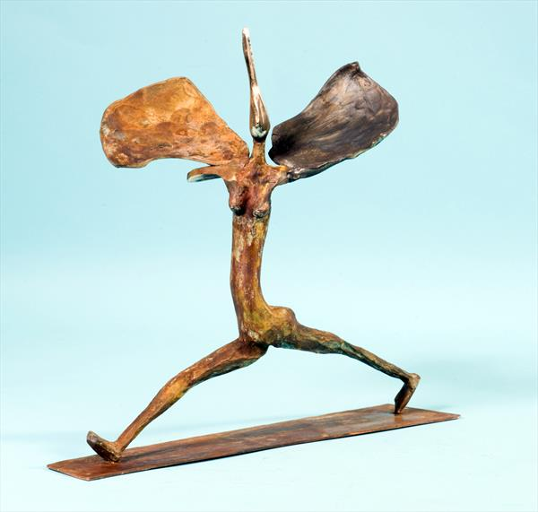 A TOTALLY UNIQUE BRONZE by frank hirshfield