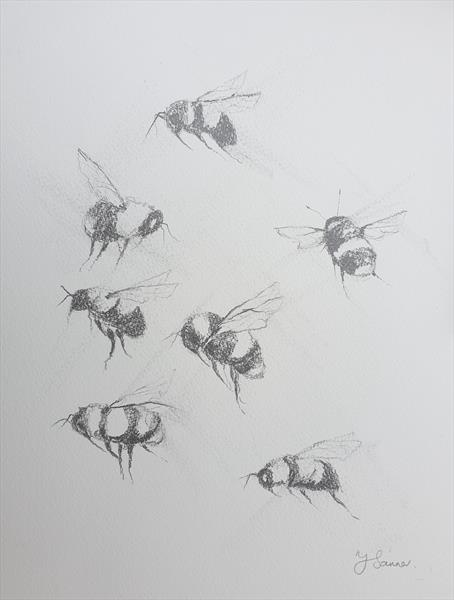 Bees in Motion Reserved for CF by Teresa Tanner