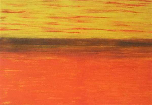 Abstract African sunset by Denise Windle
