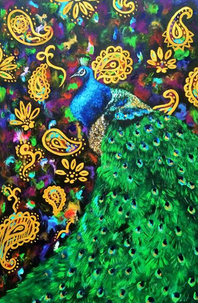 Paisley Peacock by Lisa Cunningham