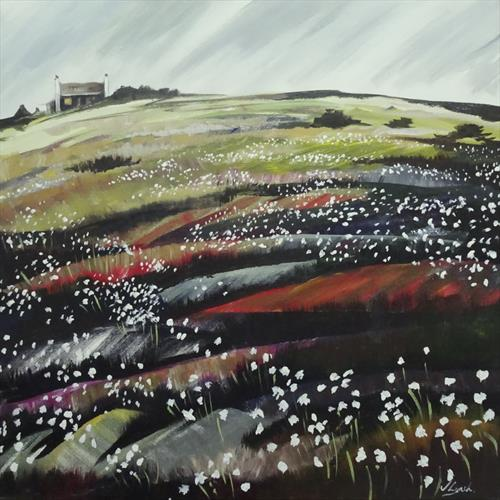 Grey Skies And Cotton Grass by Joseph Lynch