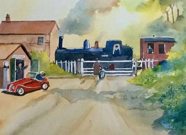 AT THE LEVEL CROSSING  by Susan Shaw