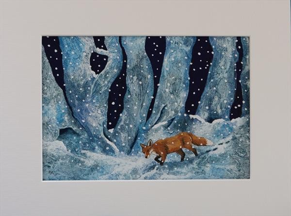 Fox in Snow by Ruth Archer