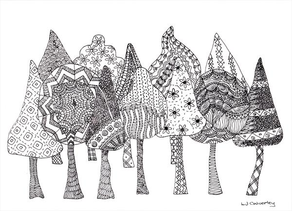 Doodle Forest by Linda Calverley