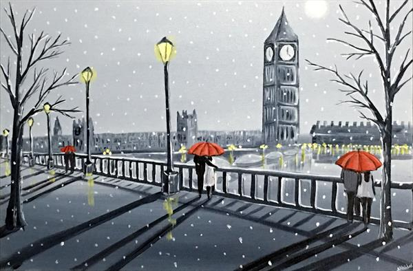 London Winter Umbrellas by Aisha Haider