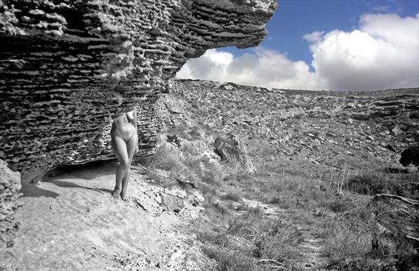 Nude in a Landscape (3) by Michael Westall