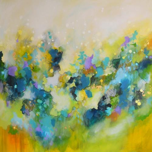 The Light In The Dreams - Large Original Abstract Painting by Tracy - Ann Marrison
