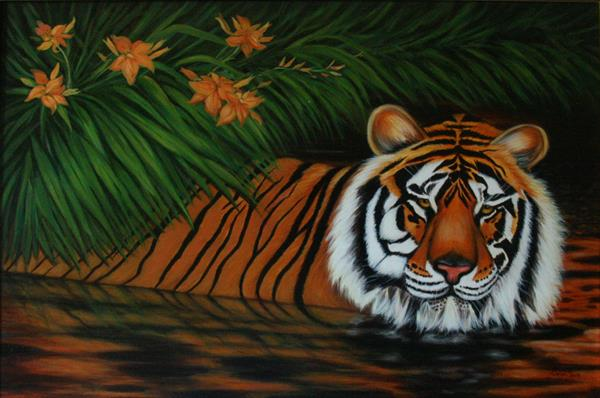 Tiger Lilies by Jane Moore
