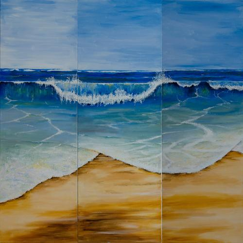 Wave Triptych by Alan Pickersgill