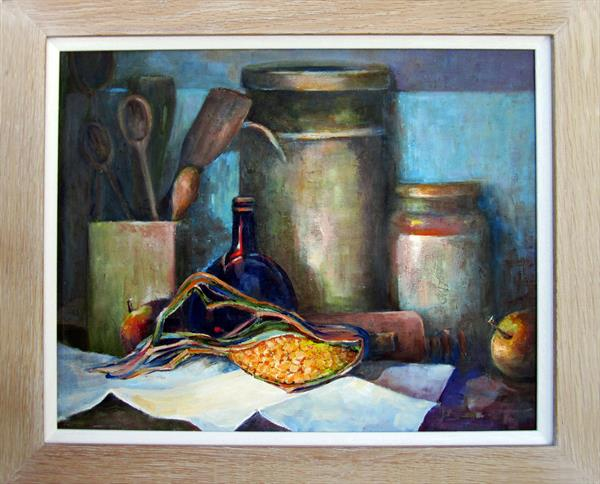 Still Life With Sweetcorn by Jean Simpson