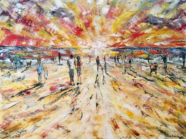 The sunset sand walk by Pippa Buist