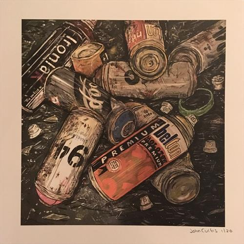 Empty cans - Limited Edition Print by John Curtis
