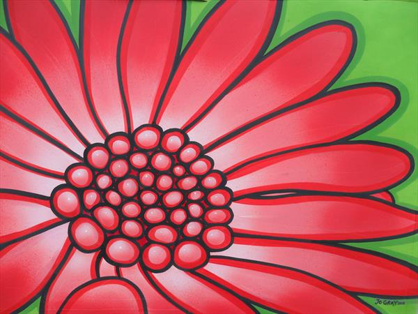 Red Flower by Joanne Gray
