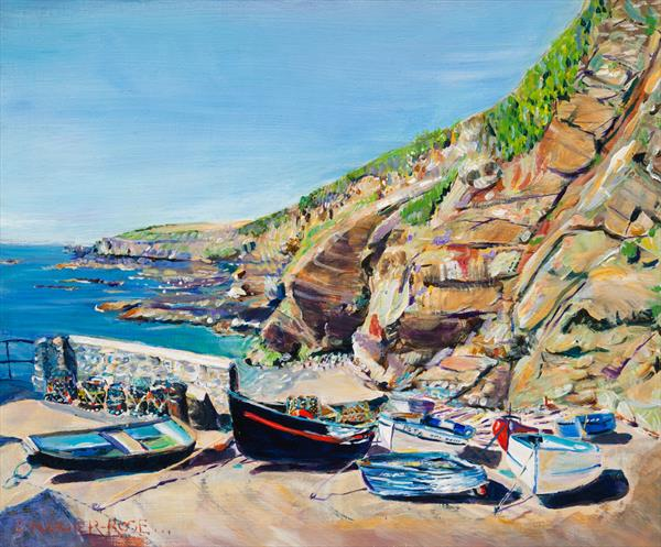 LIZARD POINT BOATS by Diana Aungier - Rose