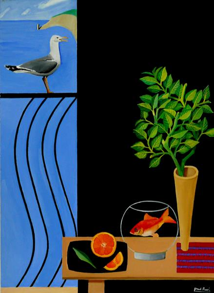 Still-life With Goldfish by Paul Rossi